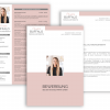 Bewerbungsvorlage, Bewerbung schreiben Vorlage, Moderne Lebenslauf Vorlage mit Lebenslauf, Anschreiben, Deckblatt