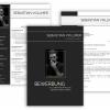 Professionelle Bewerbungsvorlage, Bewerbung schreiben Vorlage, Moderne Lebenslauf Vorlage schwarz mit Lebenslauf, Anschreiben, Deckblatt