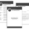 Bewerbung schreiben Vorlage, Moderne Lebenslauf Vorlage schwarz mit Lebenslauf, Anschreiben, Deckblatt
