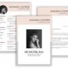 Bewerbungsvorlage Download, Bewerbung schreiben Vorlage, Kreative Lebenslauf Vorlage mit Lebenslauf, Anschreiben, Deckblatt