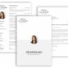 Bewerbungsvorlage, Bewerbung schreiben Vorlage, Schlicht Lebenslauf Vorlage mit Lebenslauf, Anschreiben, Deckblatt