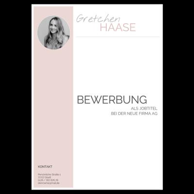 Bewerbung Deckblatt modern pastell rosa