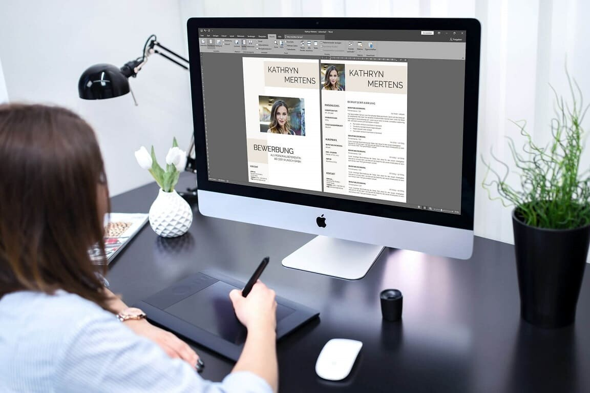 Bewerbungsvorlage auf iMac bearbeiten