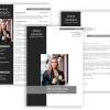 Bewerbungsvorlage, Bewerbung schreiben Vorlage, Moderne Lebenslauf Vorlage grau schwarz mit Lebenslauf, Anschreiben, Deckblatt