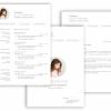 Professionelle Bewerbungsvorlage, Vorlage Bewrbung schlicht mit Lebenslauf, Anschreiben, Deckblatt