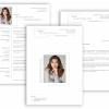 Professionelle Bewerbungsvorlage schlichte Vorlage mit Lebenslauf, Anschreiben, Deckblatt