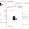 Professionelle Bewerbungsvorlage Vorlage kreativ Lebenslauf, Anschreiben, Deckblatt