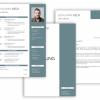 Professionelle Bewerbungsvorlage, Bewerbung schreiben Vorlage, Moderne Lebenslauf Vorlage blau mit Lebenslauf, Anschreiben, Deckblatt