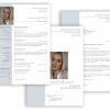 Professionelle Bewerbungsvorlage blau Vorlage Lebenslauf, Anschreiben, Deckblatt